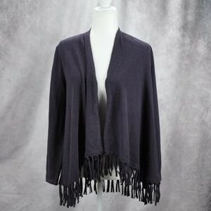 Style & Co. Womens Open Front Fringe Sweater